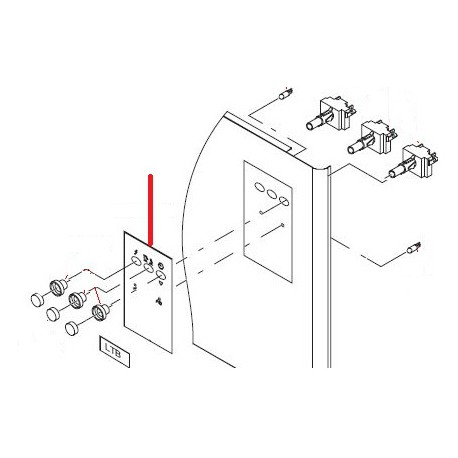 PLASTRON COMMANDE LTB 50-42 ORIGINE RANCILIO - ENQ6567