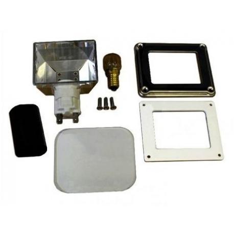 BOITIER AVEC SUPPORT ET AMPOULE G9 25W 230V L:96MM L:80MM OR - TIQ10449