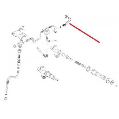 TUBE VAPEUR DROIT LIFE 2-3 GROUPES ORIGINE RENEKA - ERQ6743
