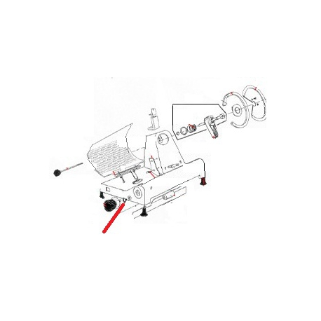 VIS BARRE CHARIOT DOLLY 300 ORIGINE M10 L:1.5MM - ETQ6583