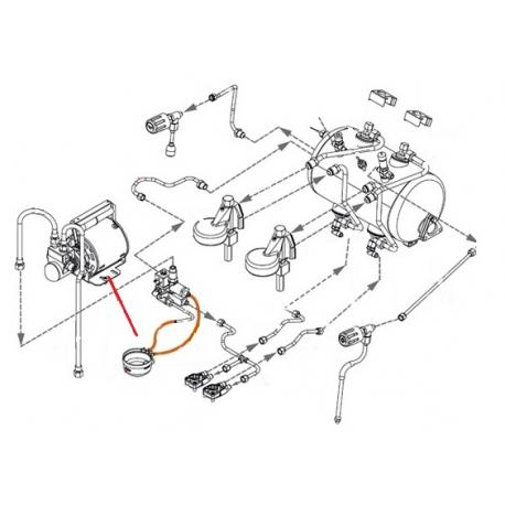 MOTEUR POMPE COMPLET AVEC RACCORDS 230V ORIGINE EXPOBAR - RKQ853