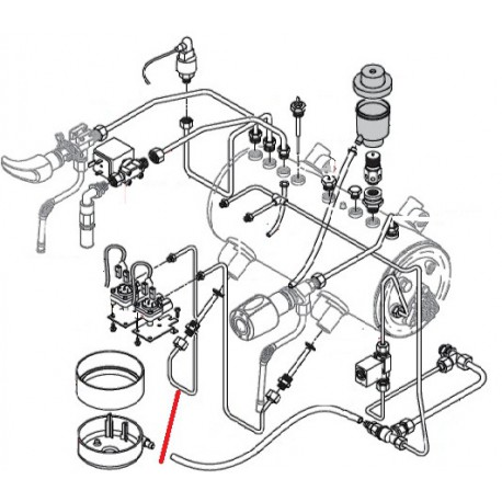TUBE L:490MM ENTREE F1/4 SORTIE M1/4 ORIGINE RANCILIO - EQ6771