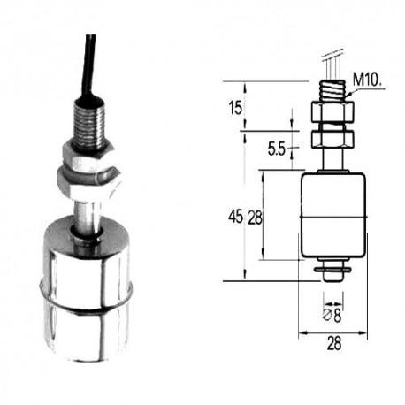 FLOTTEUR INOX M10 H:40MM í26MM - IQ6185