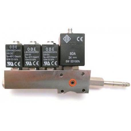 MQN6830-BLOC-4-ELECTROVANNE 2+2+2+3 AVEC CONNECTION 24V CC ORIGINE