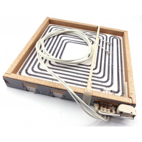 PLAQUE ELECTRIQUE 4000W 400V 300X300MM RAYONNEMENT 270X270MM - TIQ71050