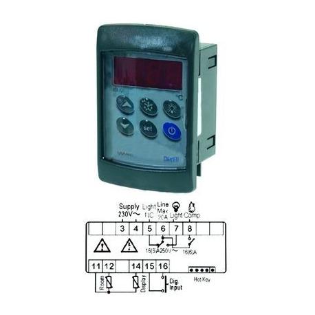 TIQ10844-CONTROLEUR DIXELL XW20VS-5NOCO 230V 2 SONDES NTC NON COMPRIS