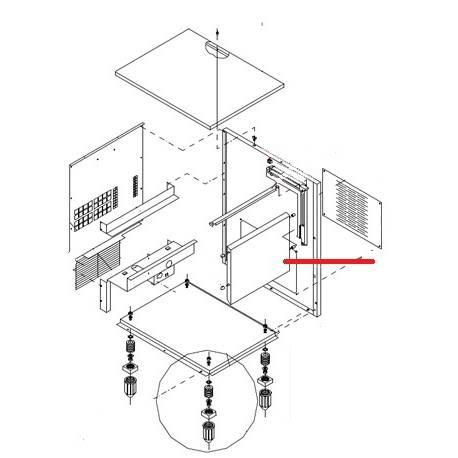PORTE POUR MACHINE A GLACONS ORIGINE I.T.V - VGQ678