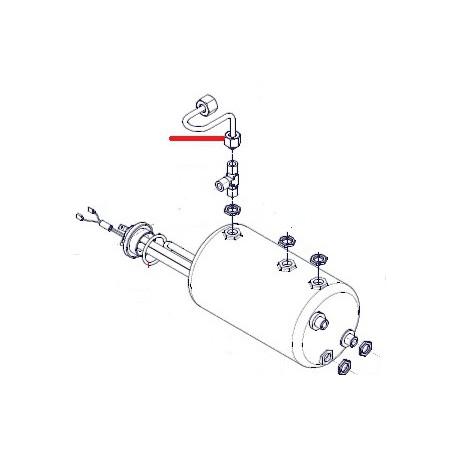 TUBE ROBINET VAPEUR A CHAUDIERE 1/4X3/8 ORIGINE SIMONELLI - FQ7648