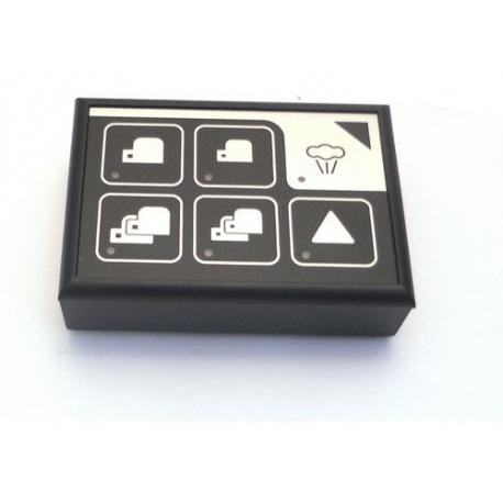 CLAVIER GICAR 9.9.13.95G CAFE/VAPEUR LED BLEUES - HQ6898