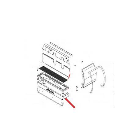 BANDEAU INFERIEUR 3 GROUPES ADONIS INOX ORIGINE SIMONELLI - FQ7886