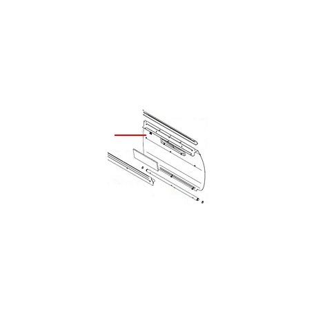 PLAQUE ARRIERE 3 GROUPES ADONIS INOX ORIGINE SIMONELLI - FQ7888
