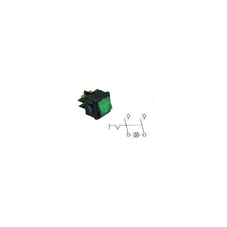 INTERRUPTEUR 27.8X25MM ROUGE LUMINEUX 2POLES 1 250V 16A - TIQ11739