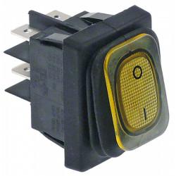 INTERRUPTEUR 30X22MM ORANGE 0-1 LUMINEUX 230V 16A - TIQ11859
