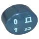 BOUTON ELLIPTIQUE GRIS '0-1' - FYQ6590