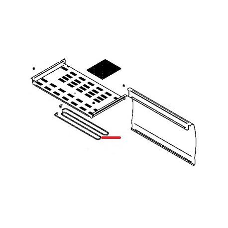 RESISTANCE CHAUFFE TASSE APPIA 150W 230V L:506MM - FQ6433