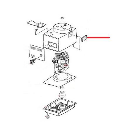 GRILLE VENTILATION INOX ORIGINE ROBOT COUPE - EBOB8796