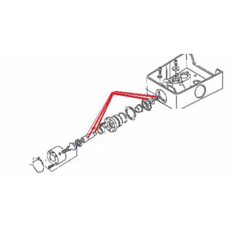 ARBRE P.A HOBART BM20/30 ORIGINE DITO SAMA-ELECTROLUX - QFQ5U6580