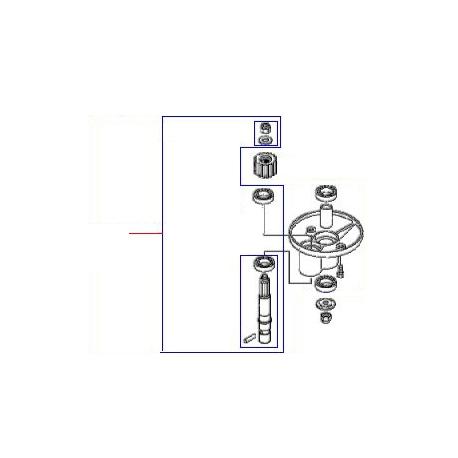 ARBRE PORTE OUT+RLT BM20 ORIGINE DITO SAMA-ELECTROLUX - QFQ5XW219