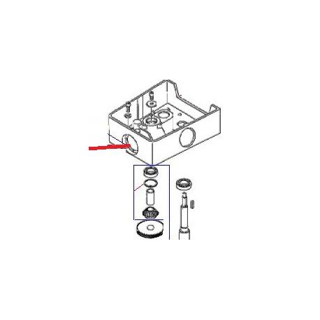 ARBRE PORTE OUTILS EQ BM20/30 ORIGINE DITO SAMA-ELECTROLUX - QFQ5Q5672