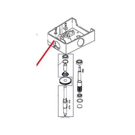 CORPS FINI BM20 RAL1013 ORIGINE DITO SAMA-ELECTROLUX - QFQ5Q6127