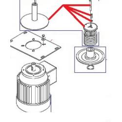 FLASQUE INF MOTEUR EQ BM20/30 ORIGINE DITO SAMA-ELECTROLUX