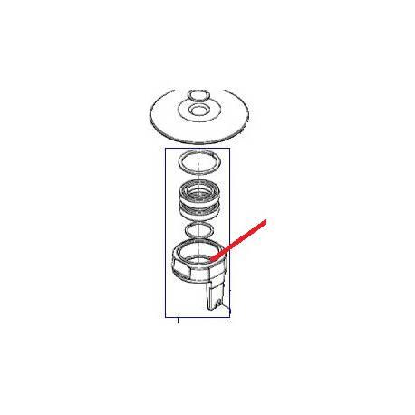 FLASQUE RECEPT + BALADEUR BM20 ORIGINE DITO SAMA-ELECTROLUX - QFQ5H5001