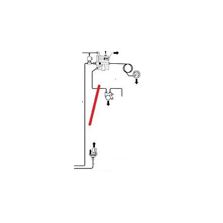 FLEXIBLE 1/8 L 220MM ORIGINE CIMBALI - PQ7549