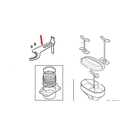 LEVIER REGLAGE MEULES ORIGINE CIMBALI - PQ6227
