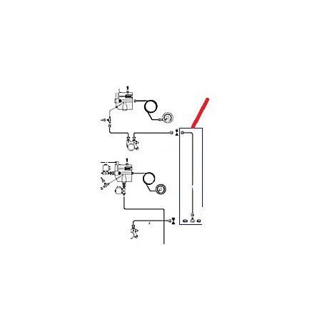 TUBE ALIMENTATION DROIT ORIGINE CIMBALI - PQ6453