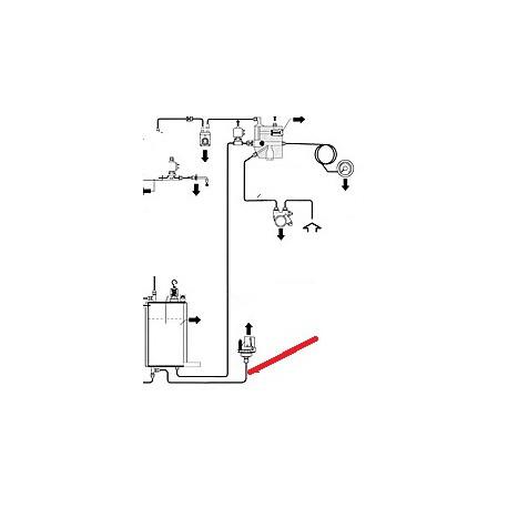 TUBE CHAUDIERE/ELECTROVANNE ORIGINE CIMBALI - PQ7540