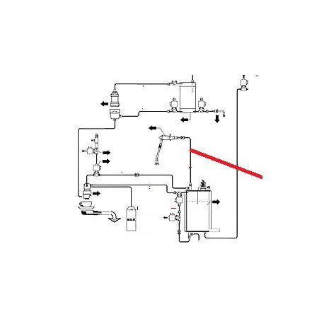 TUBE CHAUDIERE/ELECTROVANNE ORIGINE CIMBALI - PQ7656