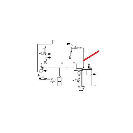 TUBE CHAUDIERE/RACCORD GROUPE ORIGINE CIMBALI - PQ7543