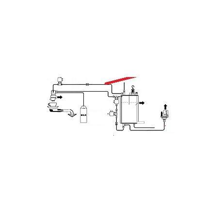 TUBE CHAUDIERE-PRESSOSTAT ORIGINE CIMBALI - PQ7541