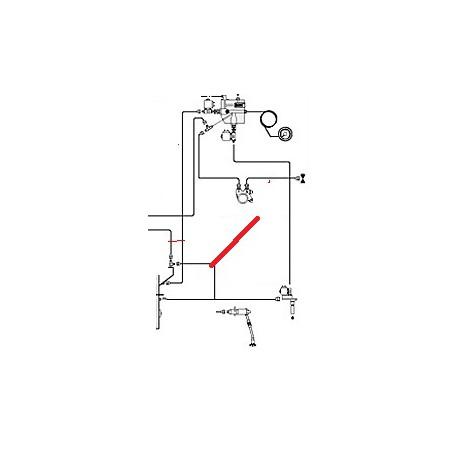 TUBE CHAUDIERE-ROBINET VAP.D ORIGINE CIMBALI - PQ6466