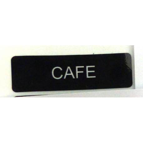 LOT DE 50 ETIQUETTES ADHESIVES CAFE  - IQ7201