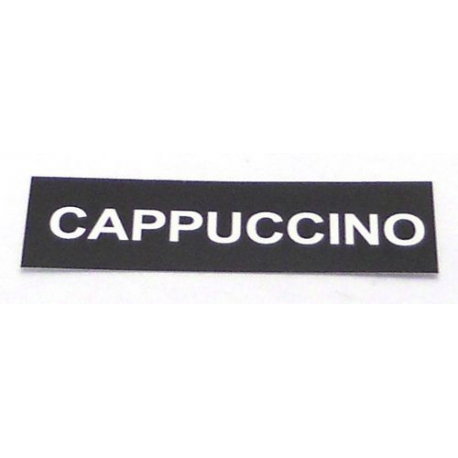 LOT DE 50 ETIQUETTES ADHESIVES CAPPUCCINO - IQ7203