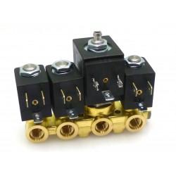 GRUPPO 4EV. 2+2+3+2VIE 230V 50HZ-INSERTI INOX- - MQN8632