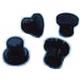 FOOT-BLACK (PACK 4) FS350 ETC - XRQ4976