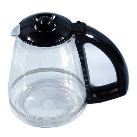 VERSEUSE EN VERRE ENSEMBLE 12TASSES NOIR GARNITURE CM665 ORIGINE - XRQ2637