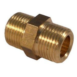 BRASS CONNECTOR 3/8MX3/8M LONG L:2.8MM SPECIFIC COFFEE. L:2.