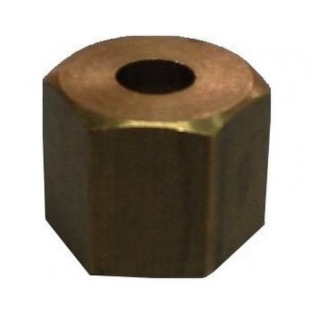 IQ762-ECROU 1/2 EMBOUT PLAT DE 12