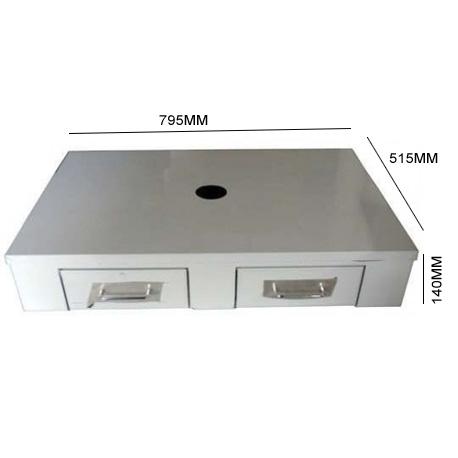 IQ7000-BAC A MARC 2 TIROIRS AVEC GLISSIERE 795X515X140 POUR MACHINE