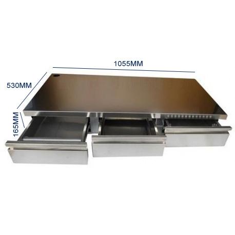 IQ7016-BAC A MARC 3 TIROIRS AVEC GLISSIERE POUR 3GR