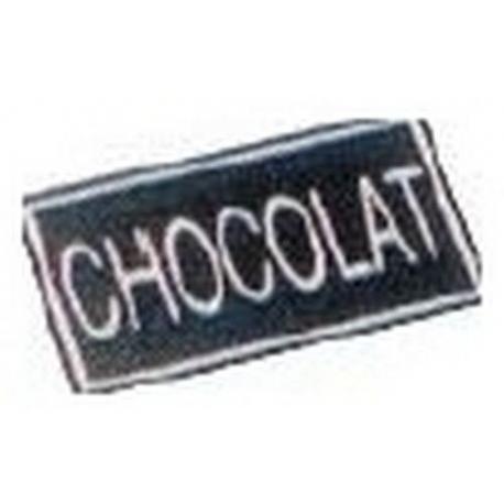 LOT DE 10 ETIQUETTES ADHESIVES CHOCOLAT  - IQ7049