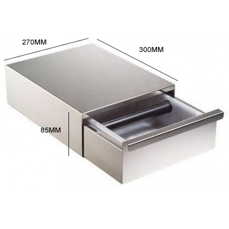 Coffee Grounds Box Drawer 270x300x85 Stainless Steel
