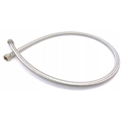 FLEXIBLE HOSE STRAIGHT CONICAL L:1000MM ØINT:10MM ØEXT:14MM STAINLESS STEEL INLET