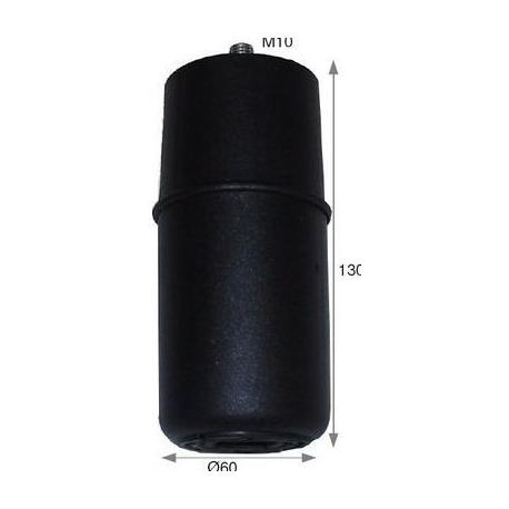 PIED PLASTIQUE NOIR 60X130MM - IQ428