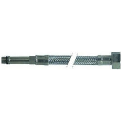 FLEXIBLE DROIT INOX L:800MM ØINT:8MM ØEXT:12MM