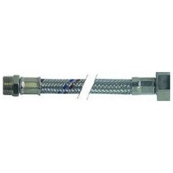 FLEXIBLE DROIT INOX L:500MM ØINT:8MM ØEXT:12MM