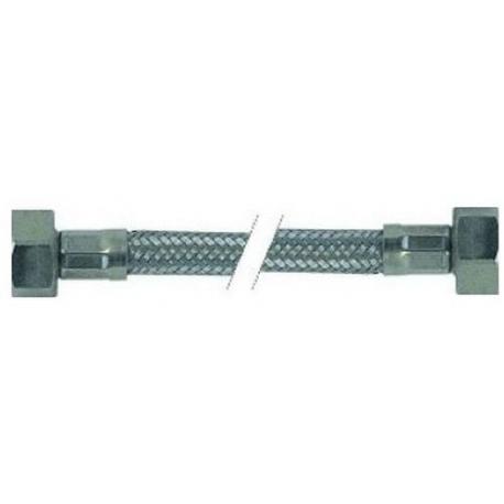 FLEXIBLE INOX 1/2FX1/2F PLAT AVEC JOINT LG:1500MM PLASTIFIE - ITQ789